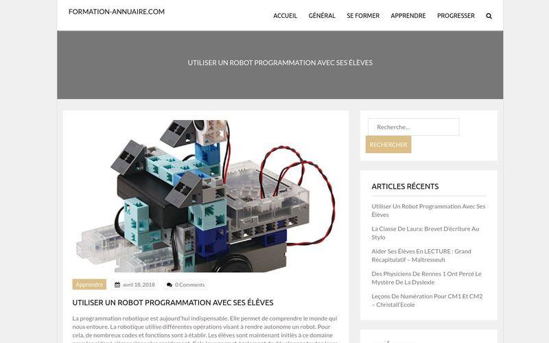 Utiliser un robot programmation avec ses élèves - formation-annuaire.com