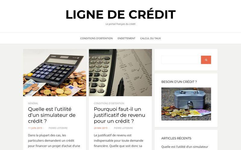 Ligne de crédit - Le portail français du crédit