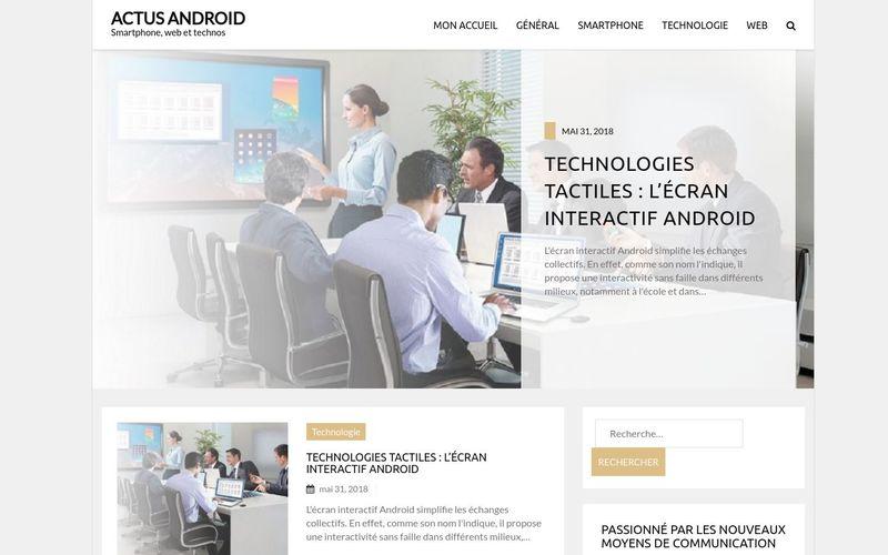 Actus Android - Smartphone, web et technos