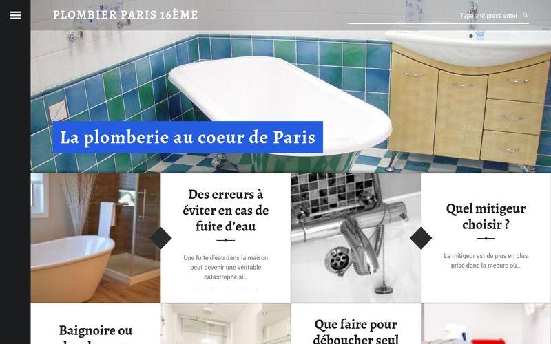 Plombier Paris 16ème - La plomberie au coeur de Paris