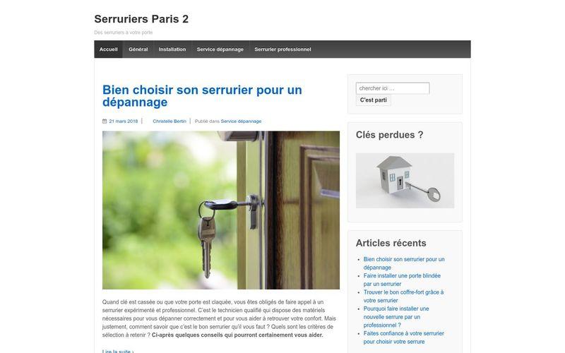 Serruriers Paris 2 - Des serruriers à votre porte