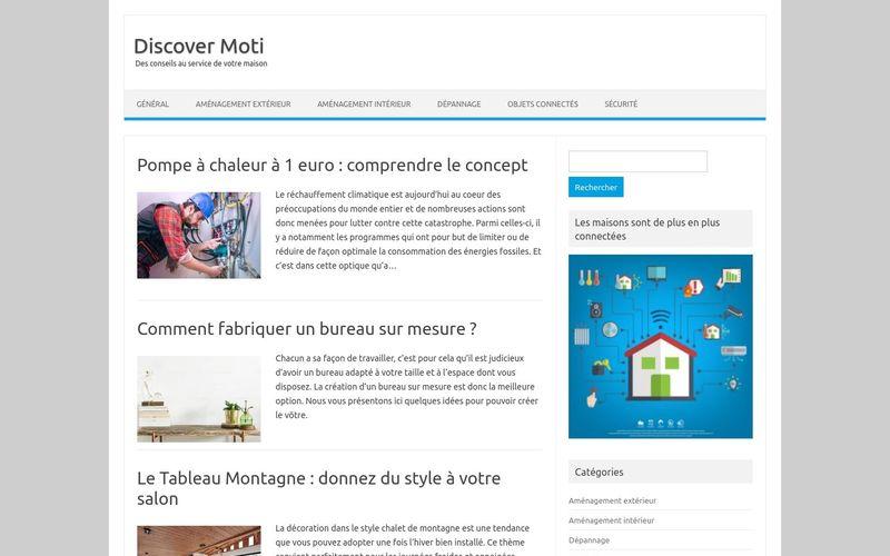 Discover Moti - Des conseils au service de votre maison