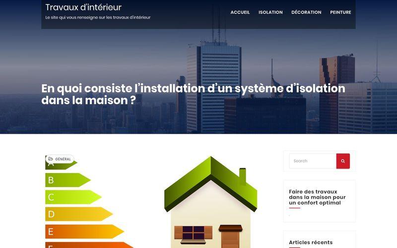 Travaux d'intérieur - Le site qui vous renseigne sur les travaux d'intérieur