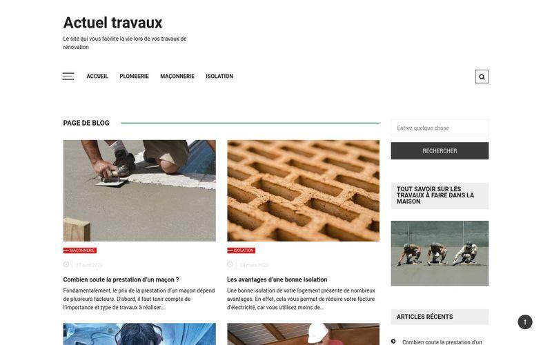Actuel travaux - Le site qui vous facilite la vie lors de vos travaux de rénovation