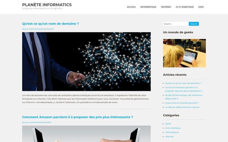 Planète informatics - Toutes les informations sur le high tech